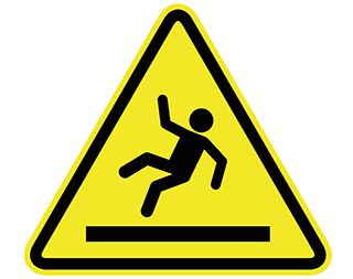 slip and fall warning sign