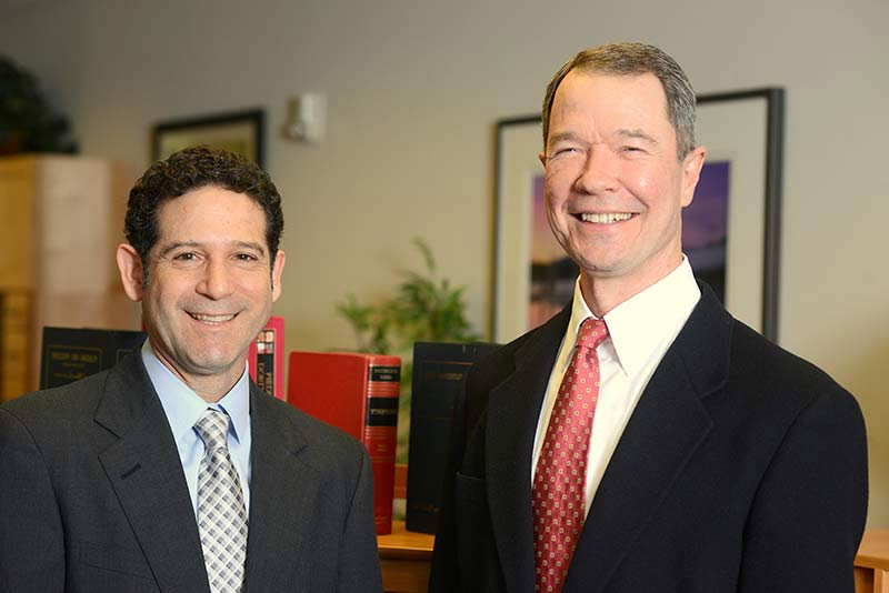 Personal injury lawyers Aron Yarmo and Jim Bailey, located in Bend, Oregon.